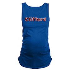 Clifford Santa Fur Maternity Tank Top