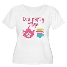 Tea Party Time Plus Size T-Shirt