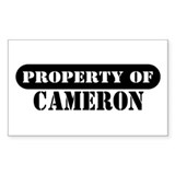 Property of Cameron Rectangle Decal