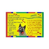 Akita Property Laws 1 Rectangle Magnet (100 pack)