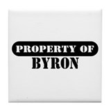 Property of Byron Tile Coaster