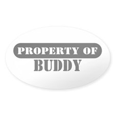 Property of Buddy Oval Decal