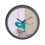 """Peeking in on you"" Wall Clock"