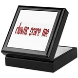 clowns scare me Keepsake Box