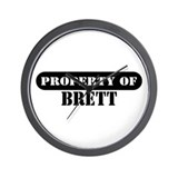 Property of Brett Wall Clock