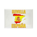 Spain map Rectangle Magnet (10 pack)