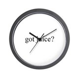 """got juice?"" Wall Clock"