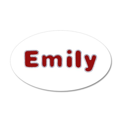 Emily Santa Fur 35x21 Oval Wall Decal