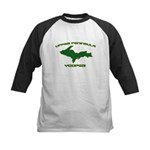 Upper Peninsula Yooper - Gree Kids Baseball Jersey