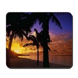 Beach Palm Sunset Mousepad