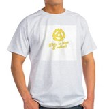 Retro Yellow 45 rpm Ash Grey T-Shirt