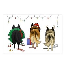 Nothin' Butt A Belgian Xmas Postcards-Pk of 8