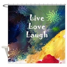 Live Love Laugh Wave Shower Curtain
