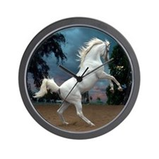 The White Stallion Wall Clock