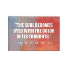 The Soul Becomes Dyed | Rectangle Magnet