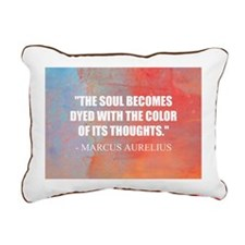The Soul Becomes Dyed | Rectangular Canvas Pillow