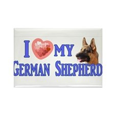 I love my German Shepherd 4 Magnets