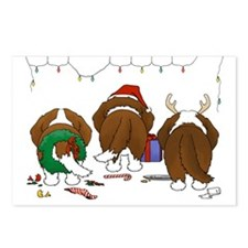 St. Bernard Christmas Postcards (Package of 8)
