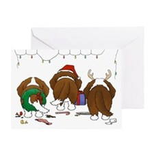 St. Bernard Christmas Greeting Card