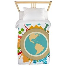 World Travel Landmarks Twin Duvet
