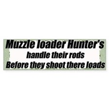 Muzzel loader humor sticker