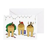Airedale christmas Greeting Cards (10 Pack)