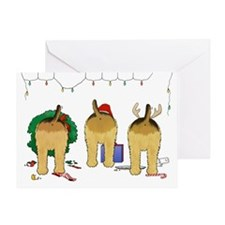 Nothin' Butt An Airedale Xmas Greeting Card