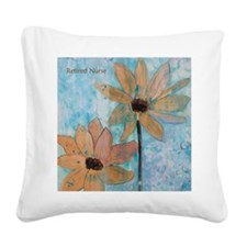 Retired Nurse Bright Side I Square Canvas Pillow