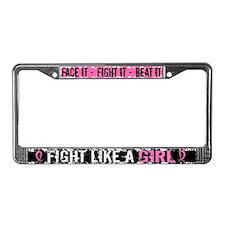Licensed Fight Like a Girl 31. License Plate Frame