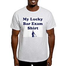 My Lucky Bar Exam Shirt Ash Grey T-Shirt