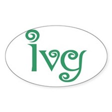 Ivy Oval Decal