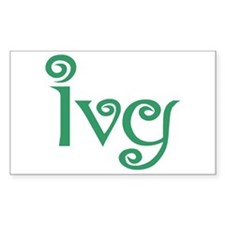 Ivy Rectangle Decal