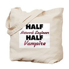 Half Network Engineer Half Vampire Tote Bag