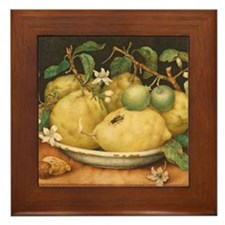 Still Life with a Bowl of Ctrons by Gi Framed Tile