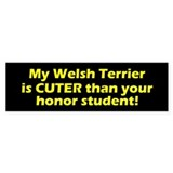 Cuter Welsh Terrier Bumper Bumper Sticker