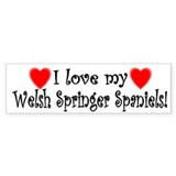 I Love my Welsh Springer Spaniels Bumper Car Sticker