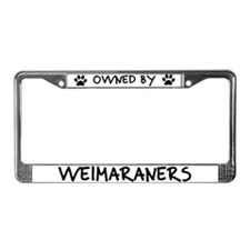 Owned by Weimaraners License Plate Frame