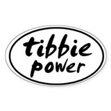Tibbie POWER Oval Decal