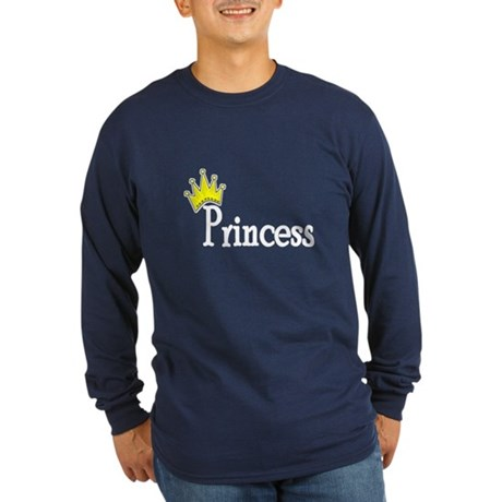 Crown Princess Long Sleeve Dark T-Shirt