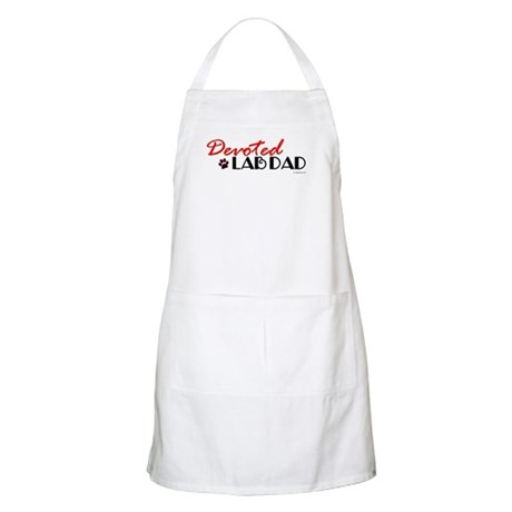 Devoted Lab Dad BBQ Apron