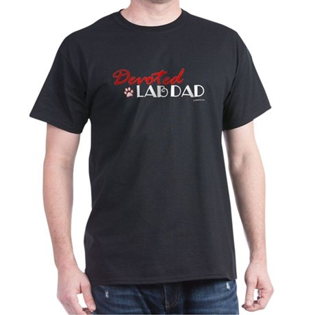 Devoted Lab Dad Dark T-Shirt