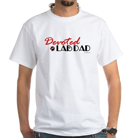 Devoted Lab Dad White T-Shirt