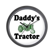 Daddy's Tractor Wall Clock