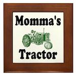 Momma's Tractor Framed Tile