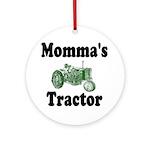 Momma's Tractor Ornament (Round)