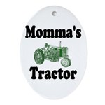 Momma's Tractor Oval Ornament