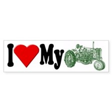 I Love My Tractor Bumper Bumper Sticker