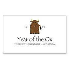 """Year of the Ox"" [1973] Rectangle Decal"
