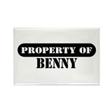 Property of Benny Rectangle Magnet (10 pack)