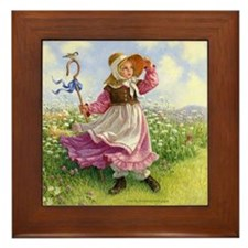 Little Bo Peep Framed Tile